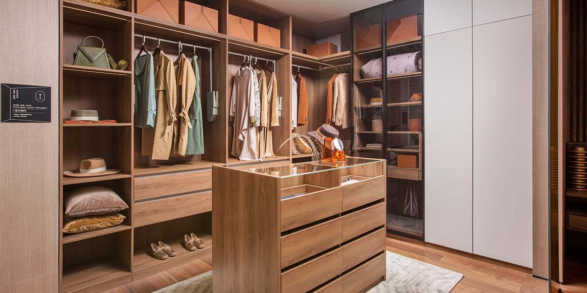 2019 Melamine Walk In Closet PLYJ19015-082