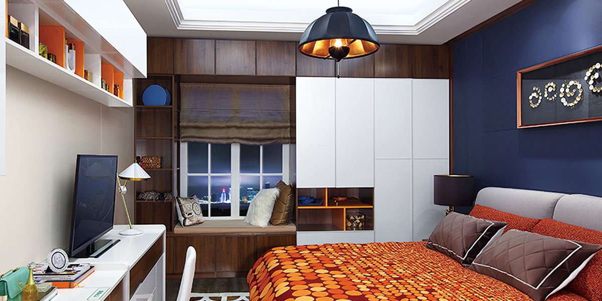 Modern Bay Window Wardrobe Design PC0471641