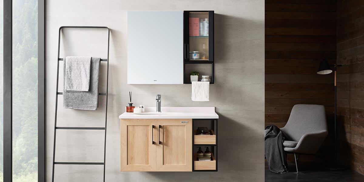 Big Storage Modern Mirror Bathroom Cabinet PCWY19003