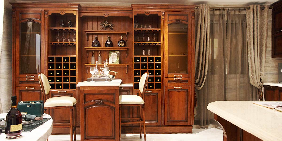 Classical Style Solid Wood Wine Cabinet JG0541628