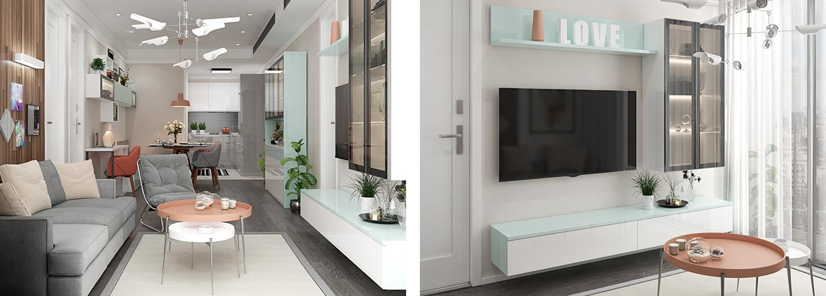 Contemporary Apartment with Warm Design OP18-HS01