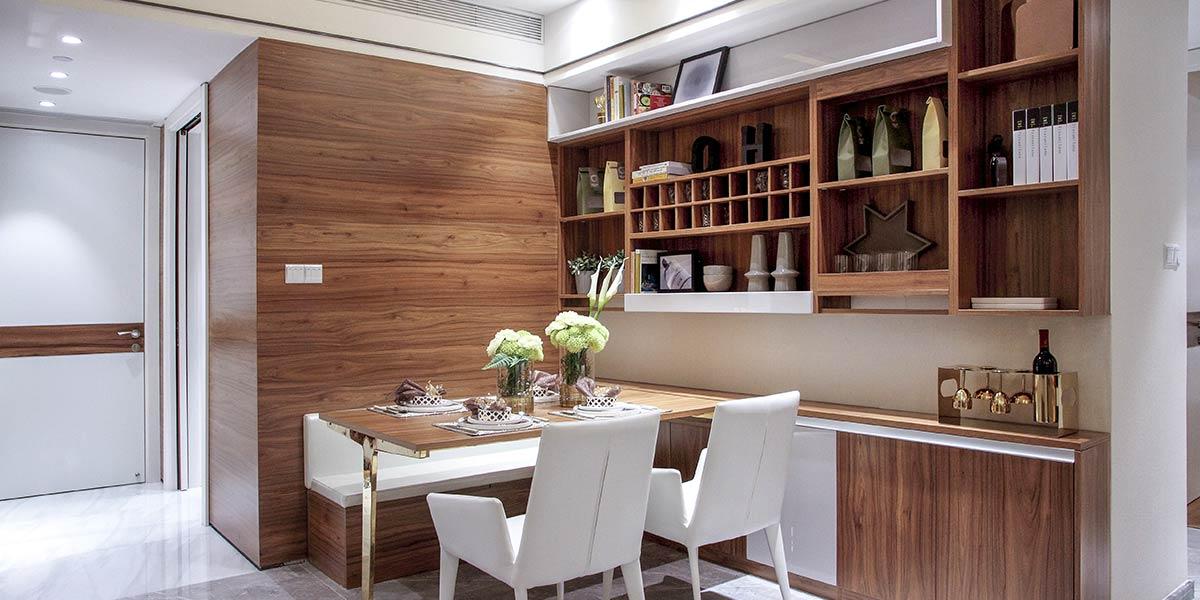 Contemporary Wood Grain Small Wine Cabinet JG0521604