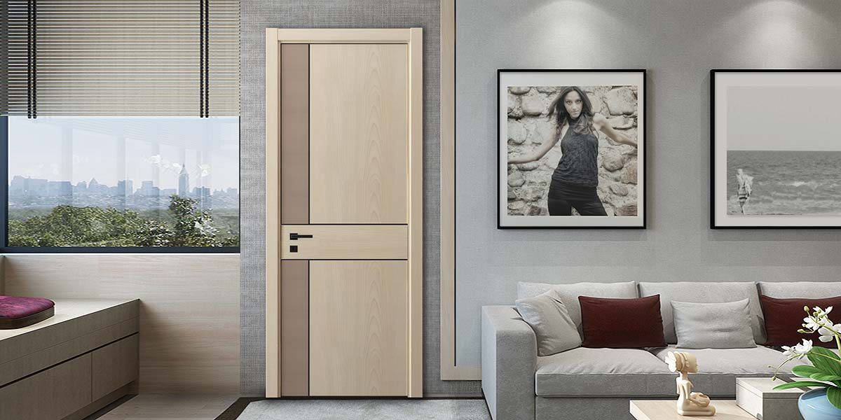 Fashion Series Wood Grain Melamine Hinged Door YDG041D