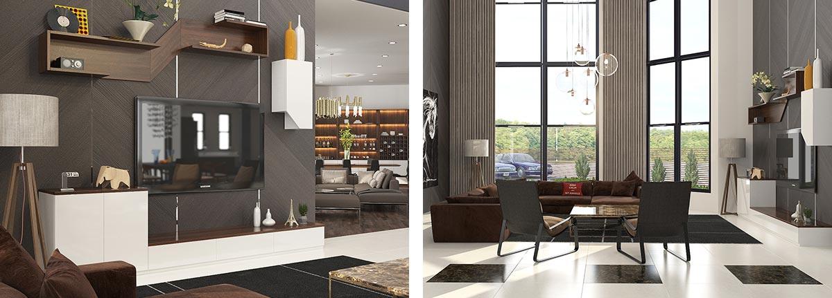 Humanized Design Two Storey Villa Home Furniture Set OP16-Villa03