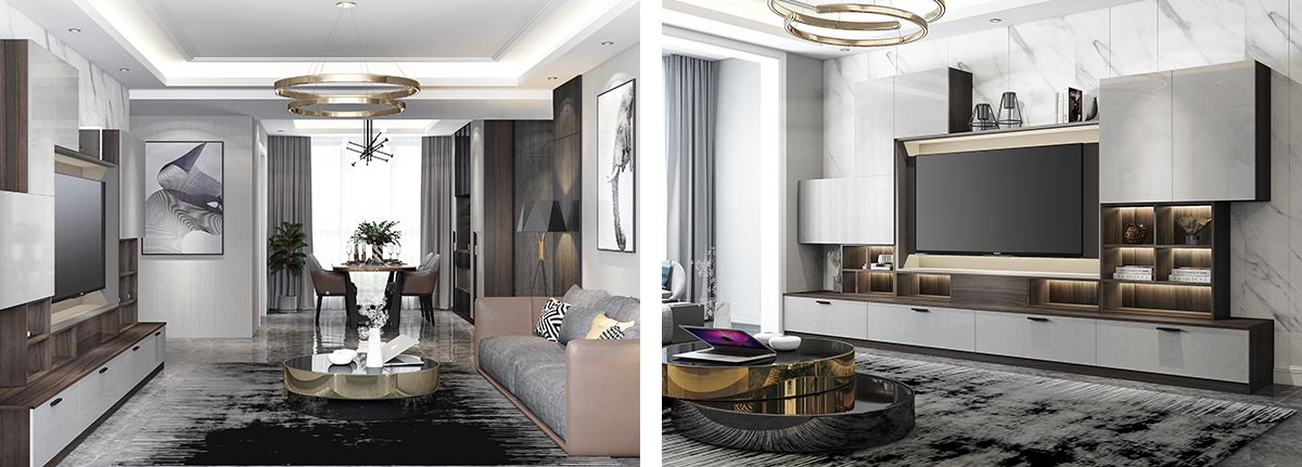 OP19-HS05 Industrial Villa Style In Grey Color