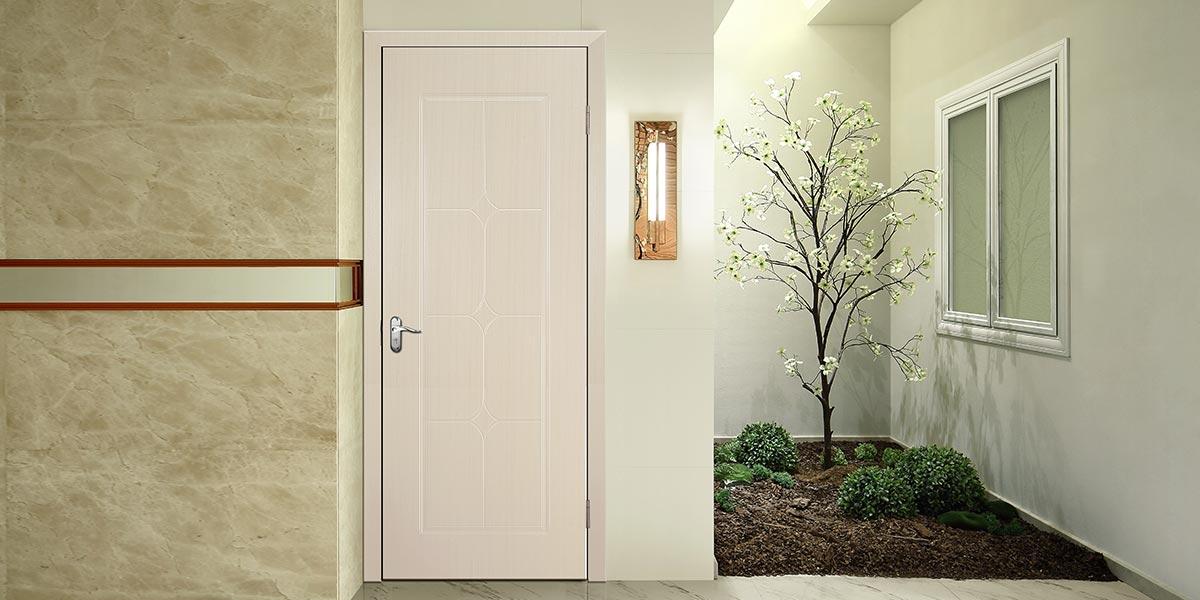 Simple Design PVC Interior Hinged Door P607