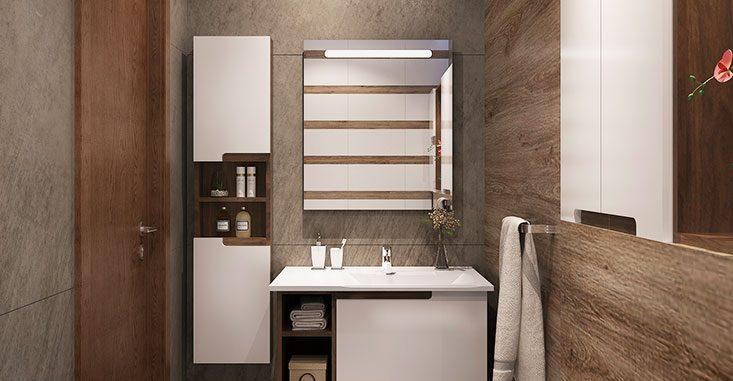 Modern White Lacquer Bathroom Vanity BC17-L02