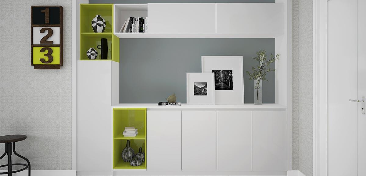 Modern Fresh Green High Gloss Lacquer House Furniture OP16-HS01