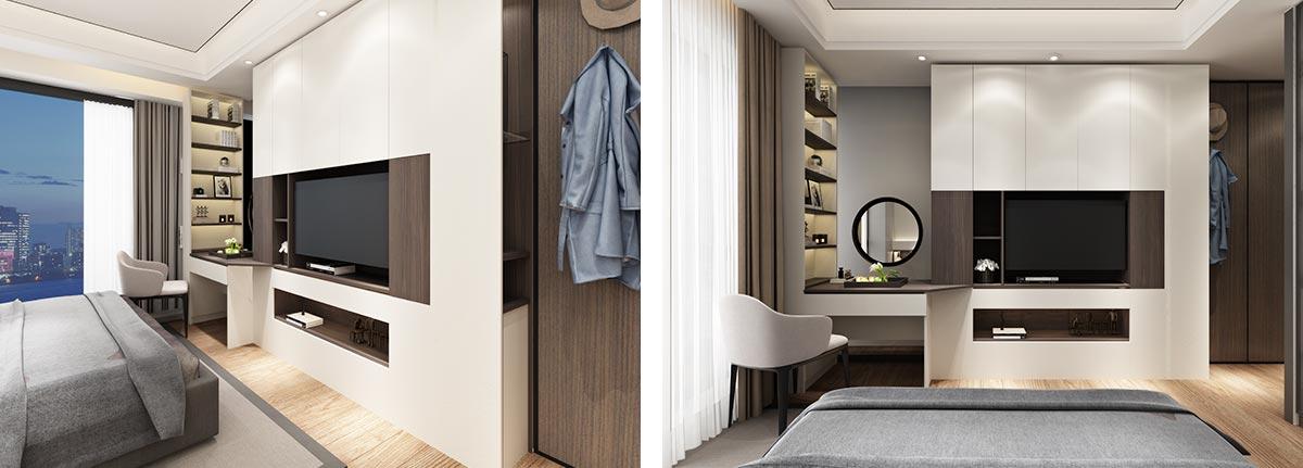Modern Grey Wood Grain OP19-Villa01
