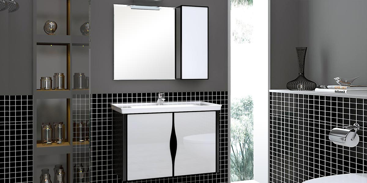 Modern High Gloss Toughened Glass Bathroom Vanity OP15-015D