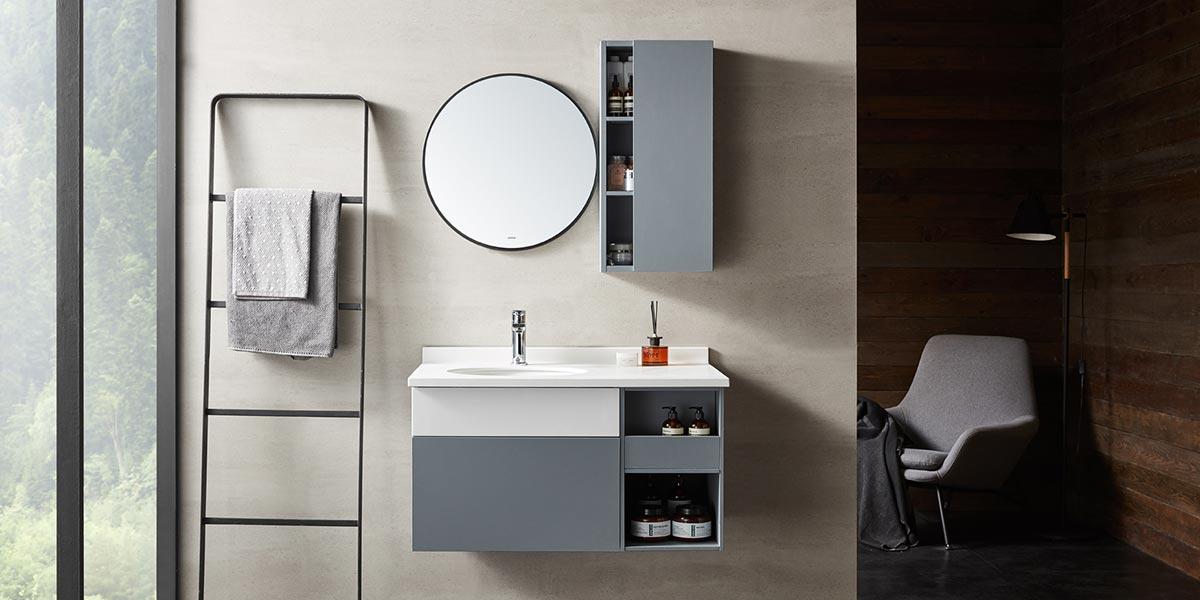 Modern Melamine Bathroom Mirror Cabinet PCWY19001