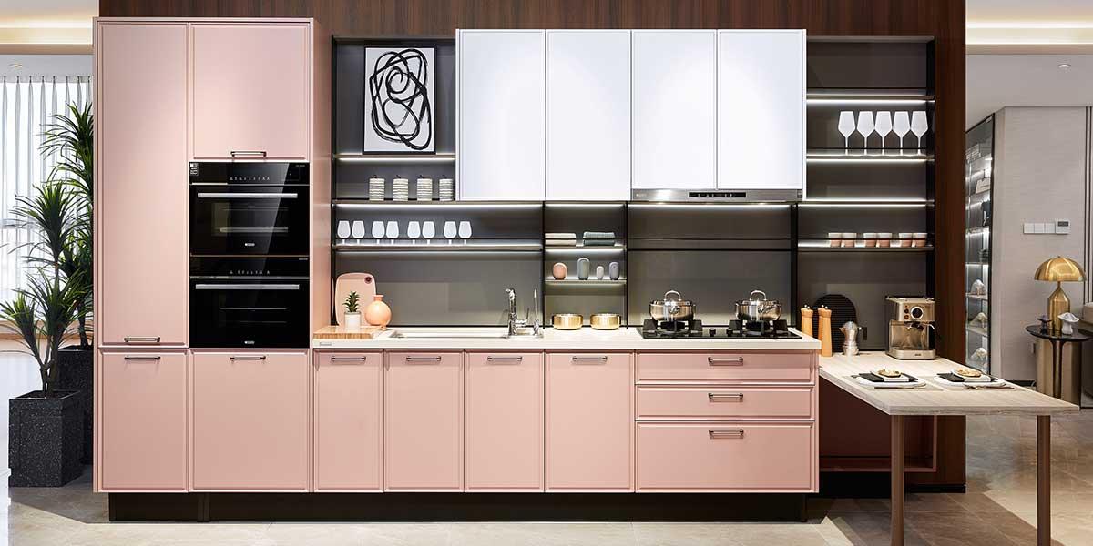 Modern Minimalist Fitted Kitchen Cabinet PLCC20059