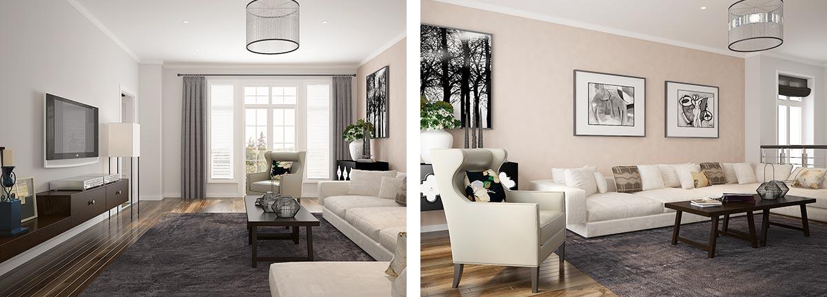 Modern White Villa Home Furniture OP15-Villa01