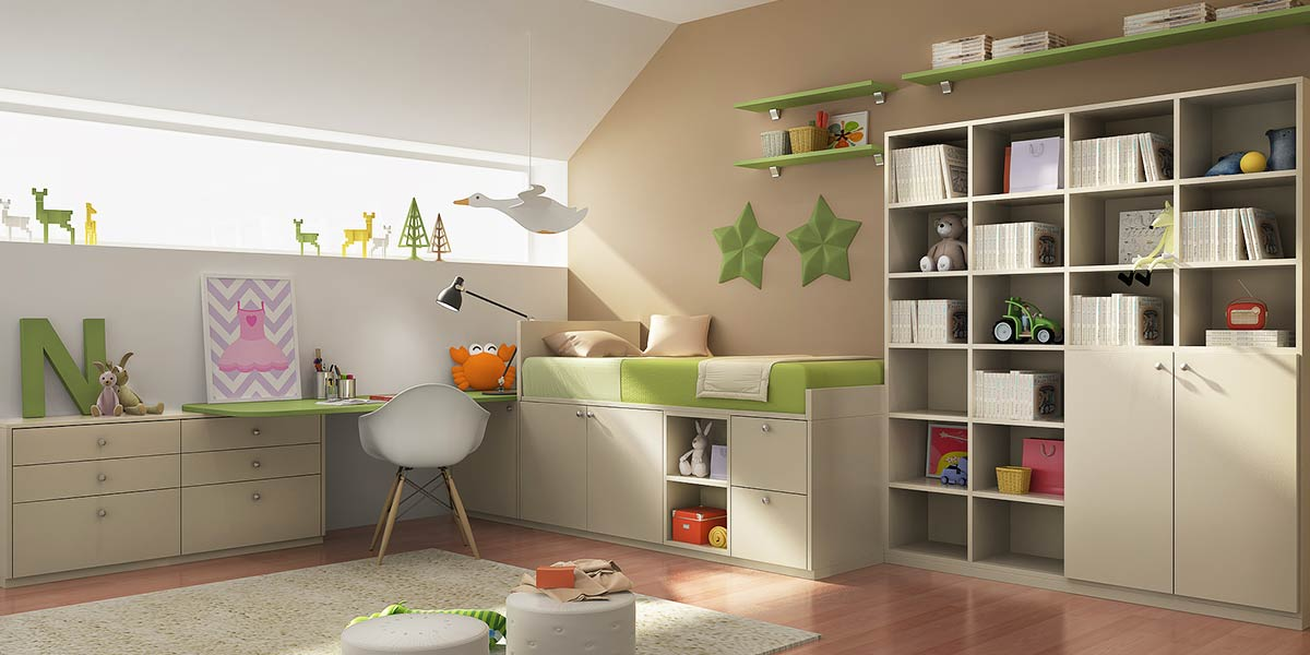 OP16-KID01: Natural and Alive Style Bedroom for 5 Years Old Boy