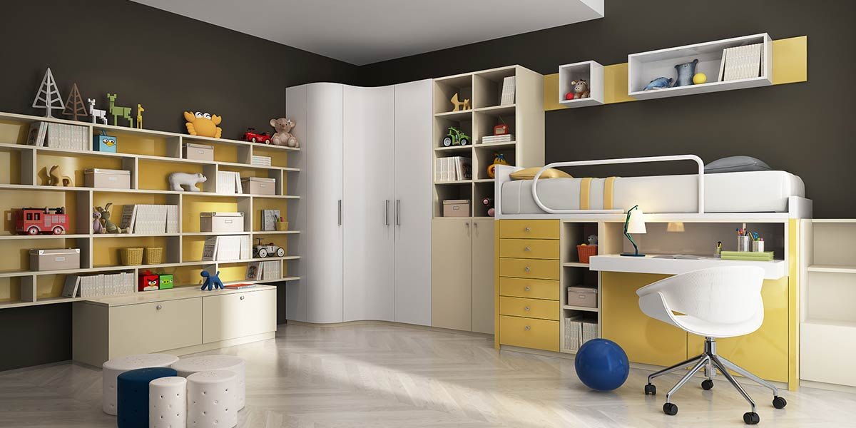 OP16-KID02: Lively and Energetic Bedroom for 10 Years Old Boy