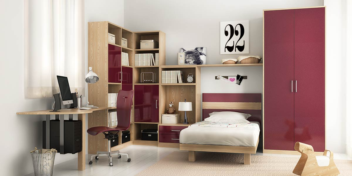 OP16-KID06: Dreamy and Fashionable Bedroom in Pink for Teenage Girl