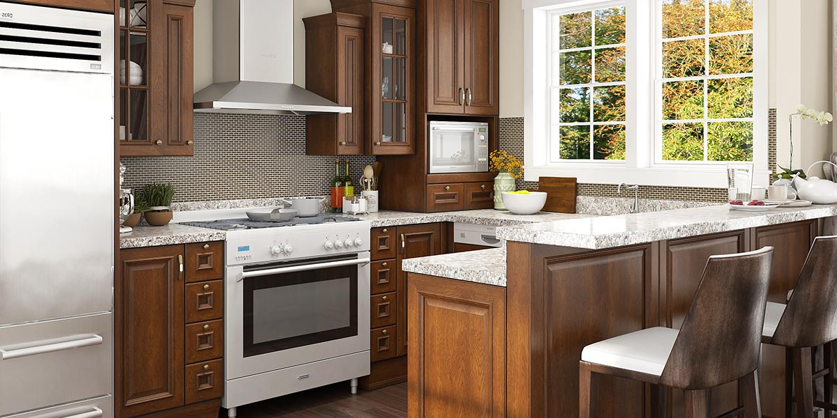 12 Square Meters U-shaped American Style Kitchen Design OP20-PP003