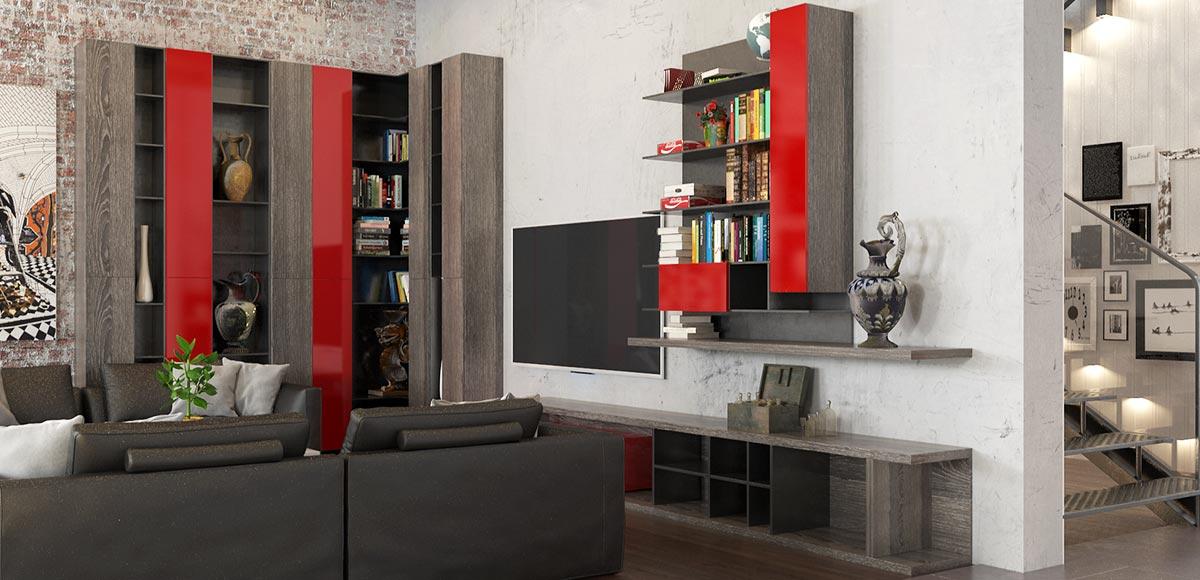 OP16-Villa05: Modern Industrial Style in Full House Design