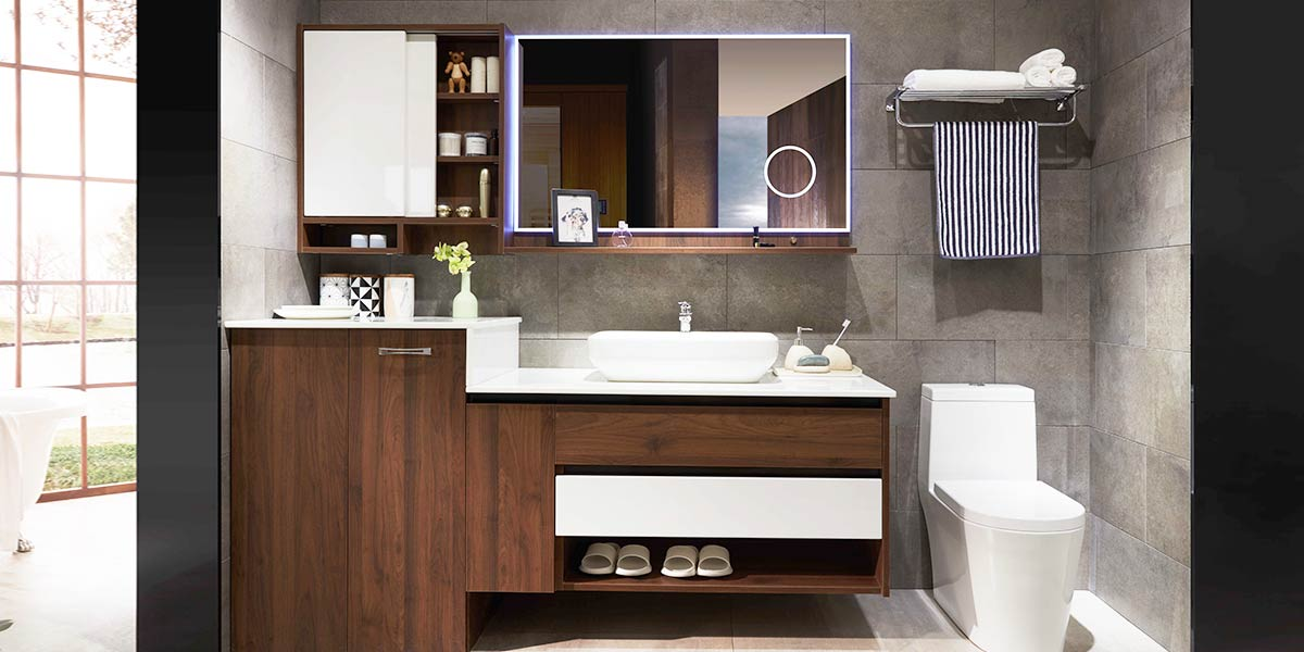 Bathroom Sets With Laundry Cabinet OP17-084