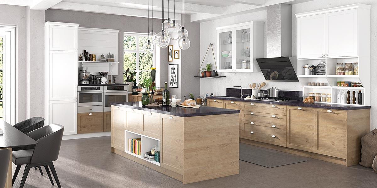 Transitional Style PVC Kitchen Units OP17-PVC04