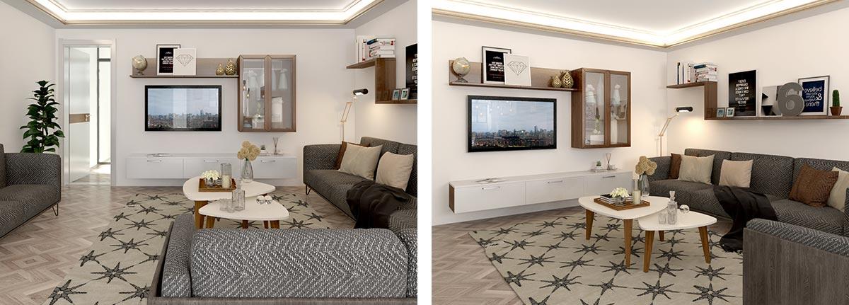 OP19-HS02 Modern Apartment of Melamine Design
