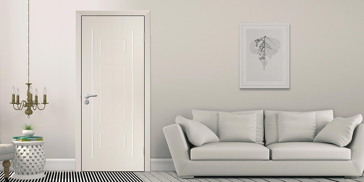 Modern White PVC Hinged Door P601
