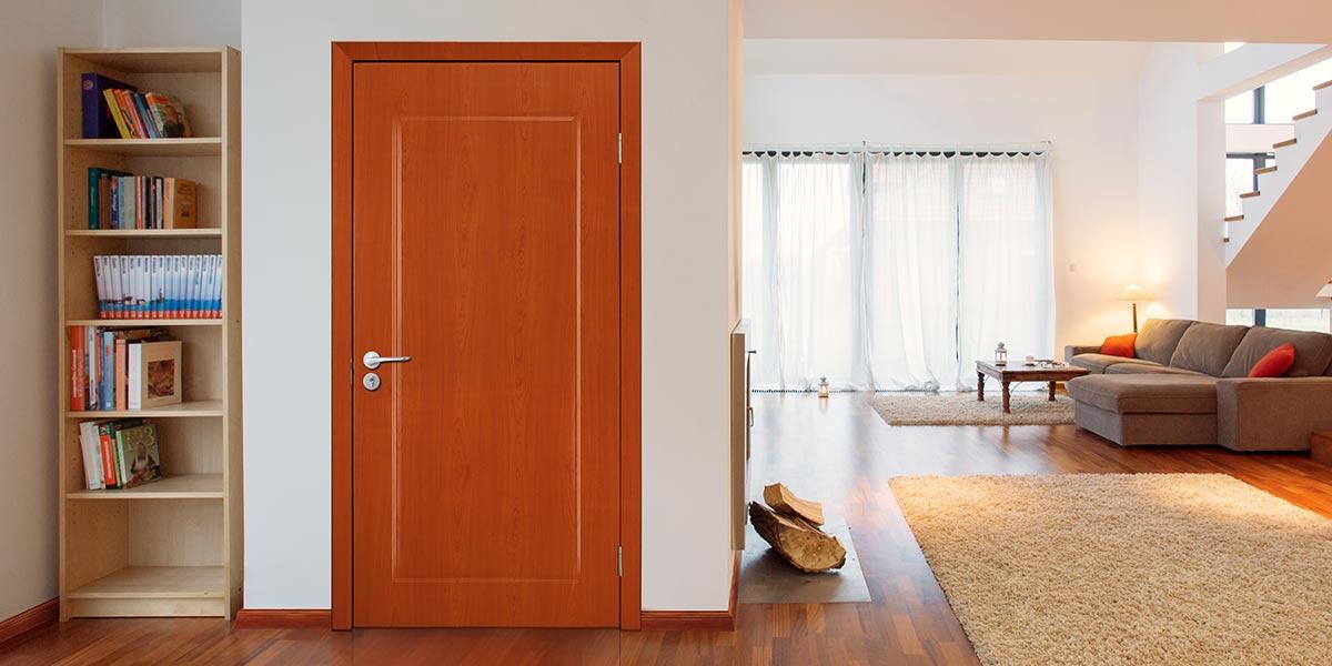 Modern Wood Grain PVC Hinged Door P602