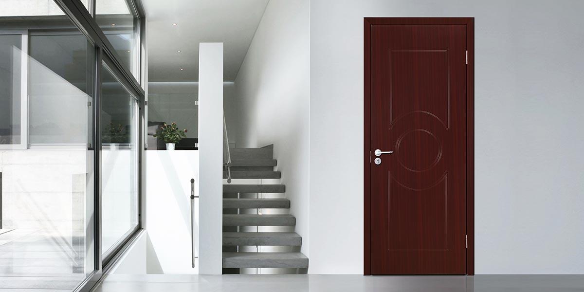Modern High Quality PVC Interior Hinged Door P605