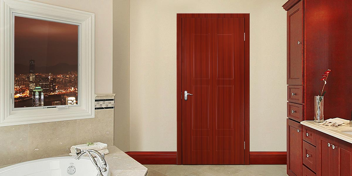 Brown Wood Grain PVC Interior Door P608
