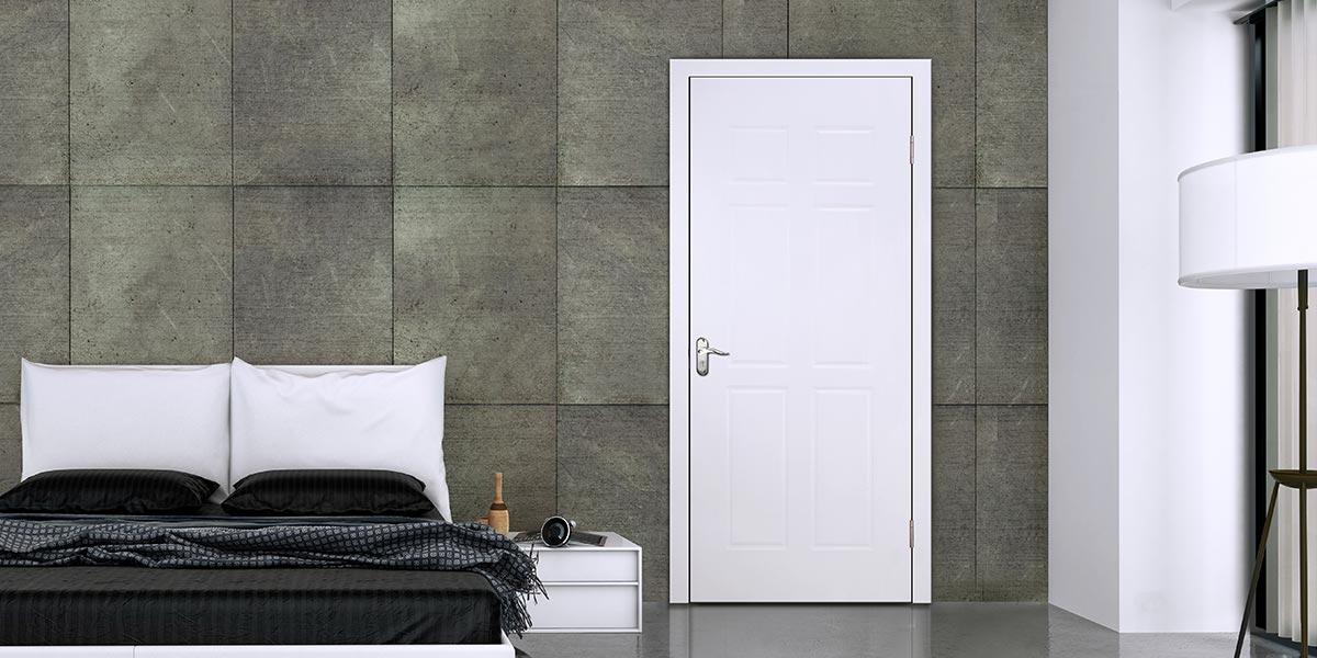 Simple Design White PVC Interior Door P609