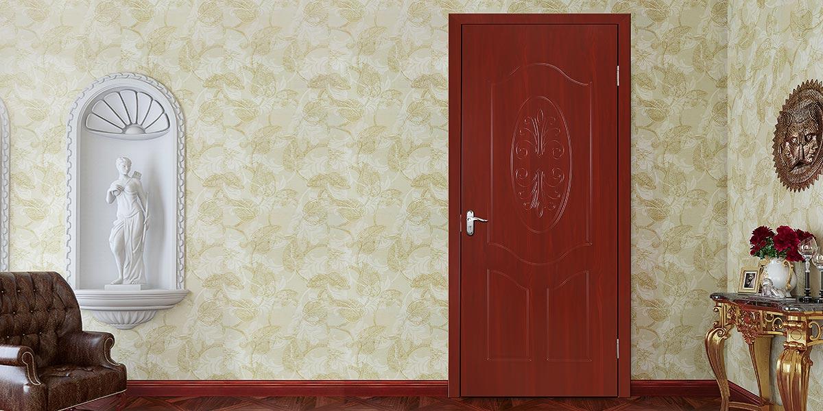 Classical Style PVC Interior Hinged Door P610