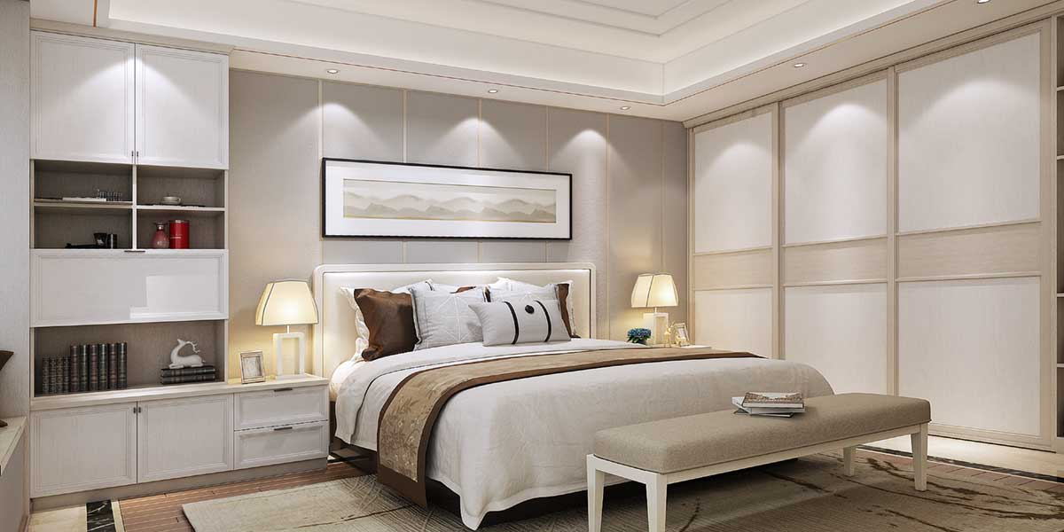 White Colour Floor To Ceiling BedsideTable PLCT17008-060