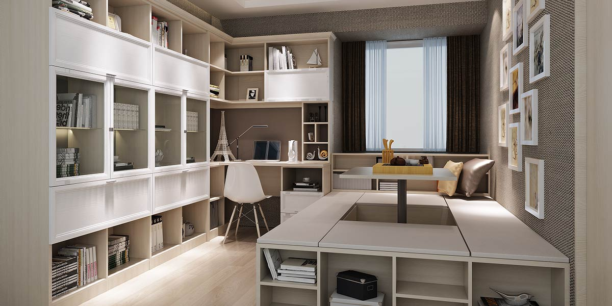 Wood Grain Melamine and White Thermofoil Corner Bookcase PLSG17011-060
