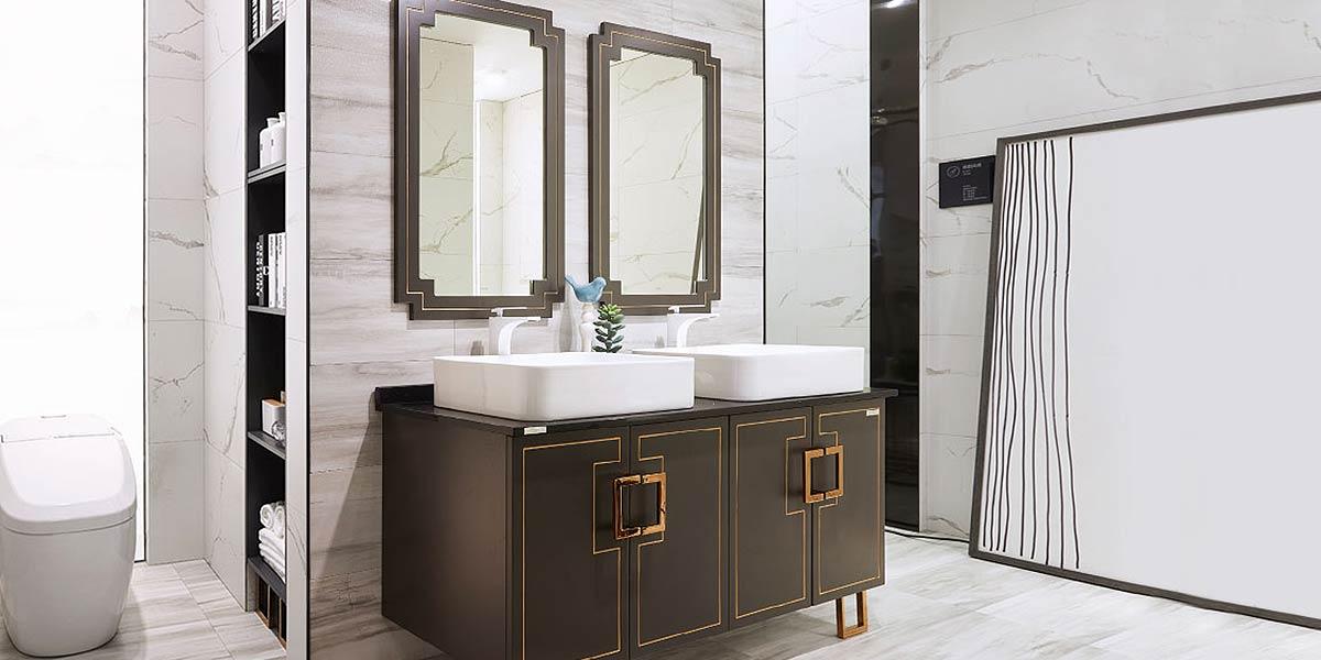 Double Sink Bathroom Vanity Units PLWY18168