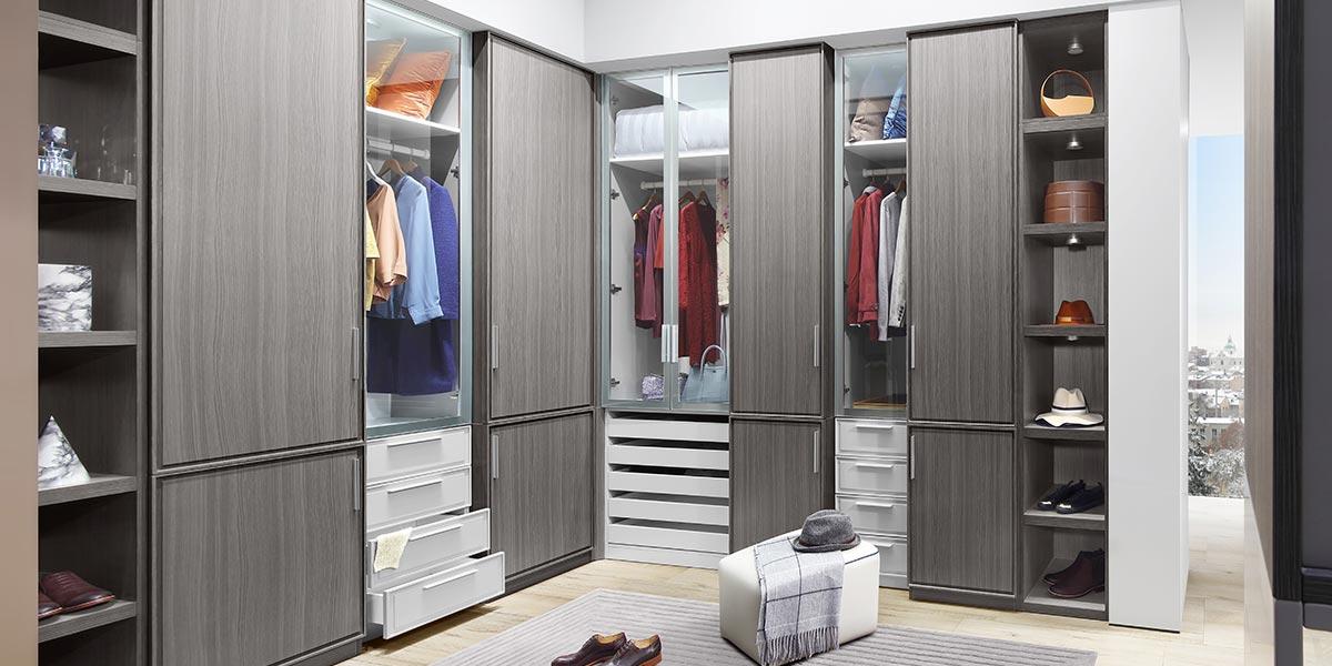 L Shape Walk-in Closet PLYJ17013-055