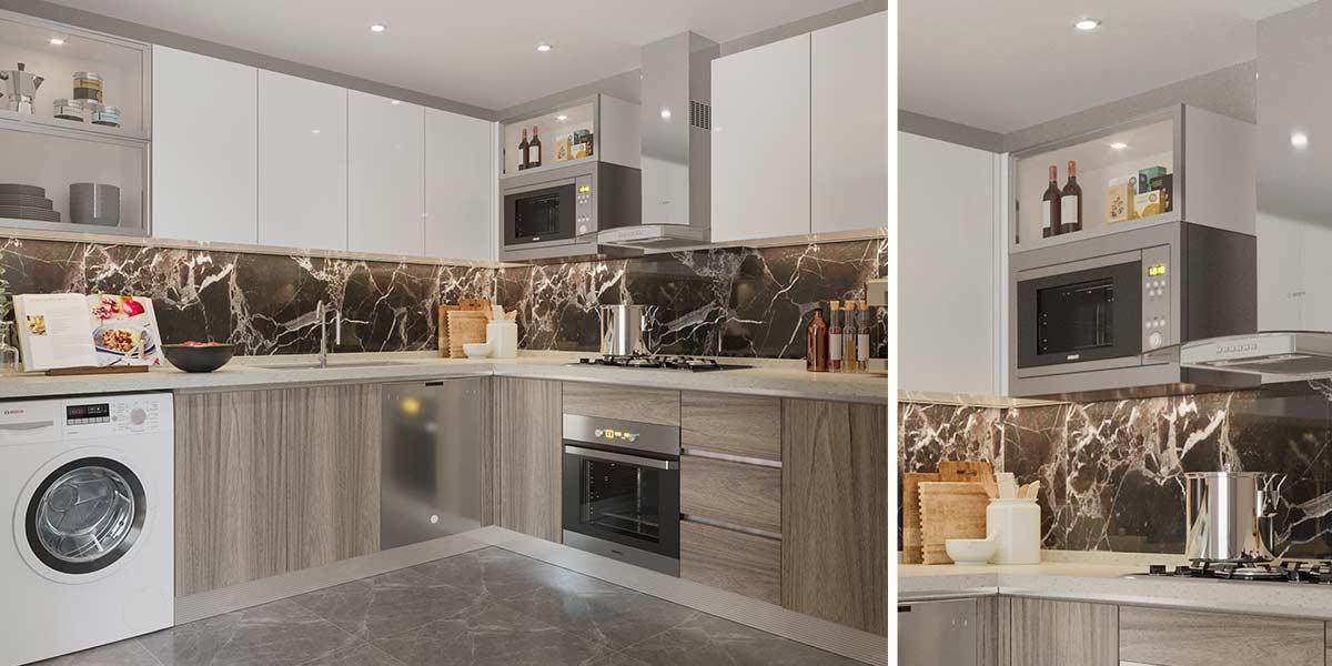 Popular Kitchen Color In White Wood Grain OP20-HPL01