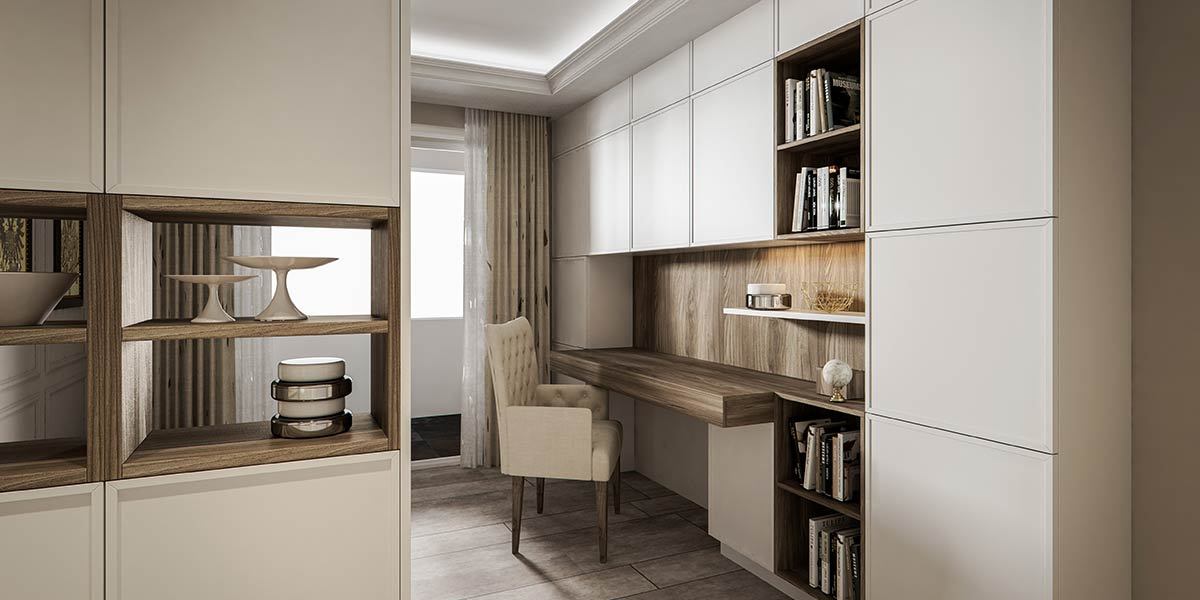 Contemporary Concise Design White Lacquer Bookcase SG0511638