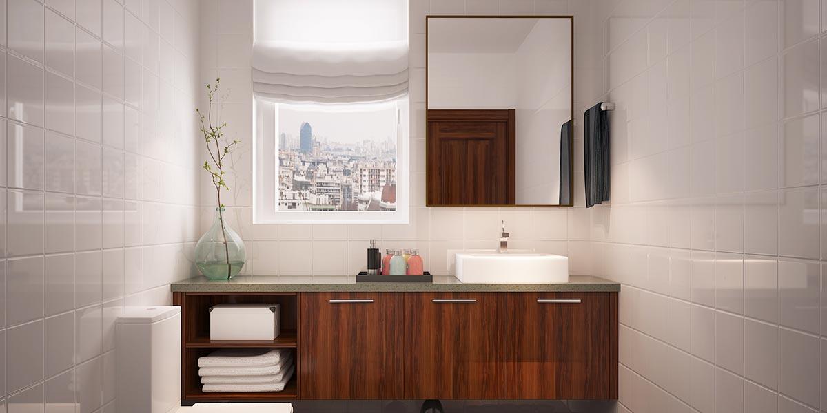 Smart Design of Wood Grain Bathroom Cabinet BC16-M01