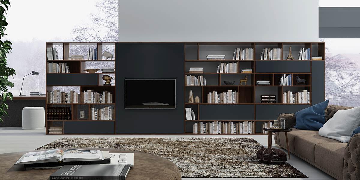Modern Large TV Bookshelf Wall Unit TV17-L02