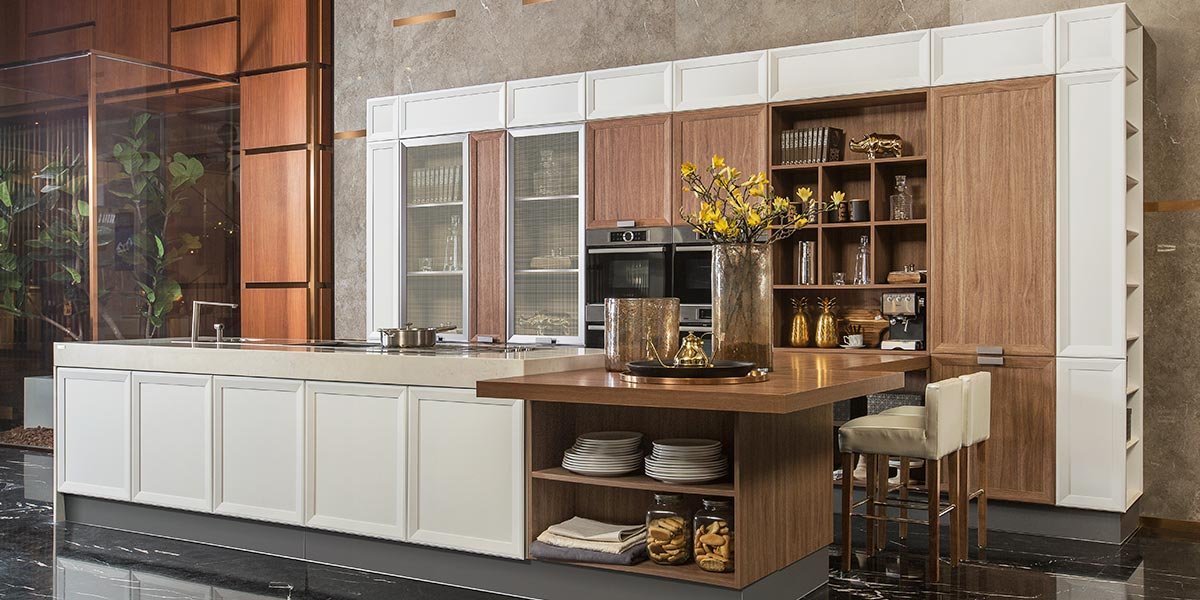 Transitional Large Thermofoil Kitchen Cabinet PLCC17058