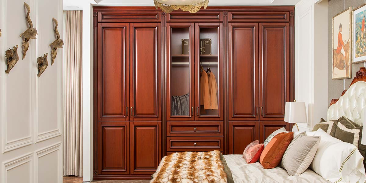 Transitional PVC Wood Grain Hinged Wardrobe PLYP19014-081