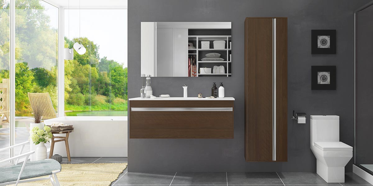 Melamine Wall Mounted Bathroom Cabinet BC17-M01