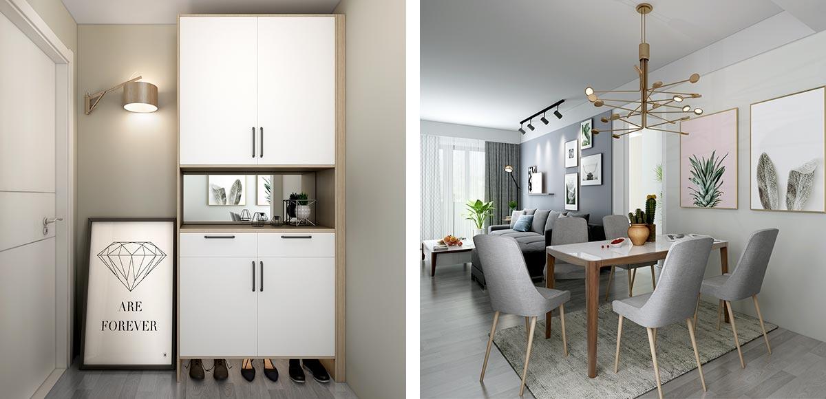 White Color Modern House Design OP19-HS06