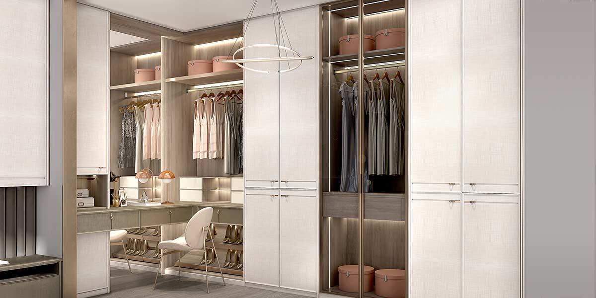 White PVC Hinged Wardrobe with Dressing Table YG20-PVC01