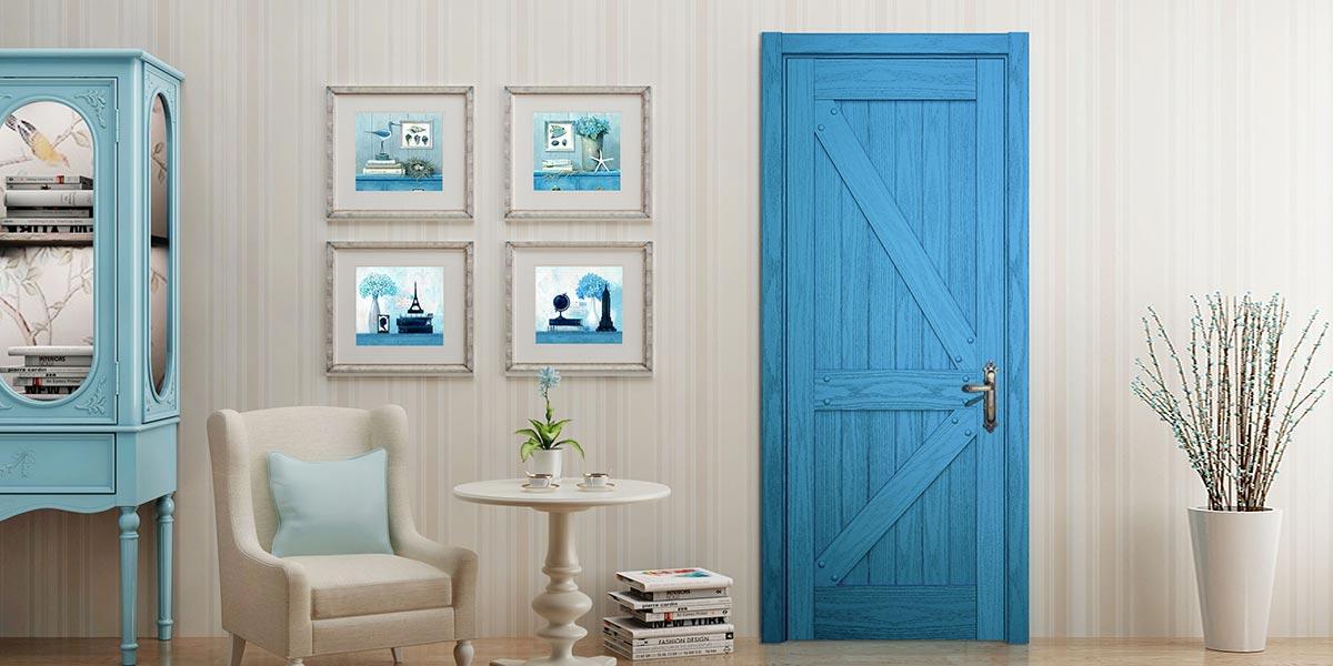 Modern Wood Veneer Hinged Interior Door YDB001D