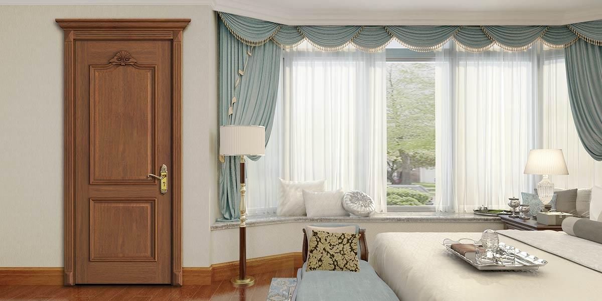 Classic Series Black Walnut Veneer Interior Door YDE003D