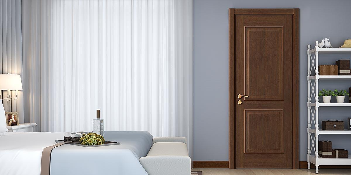 Classic Series Black Walnut Veneer Interior Door YDE015D