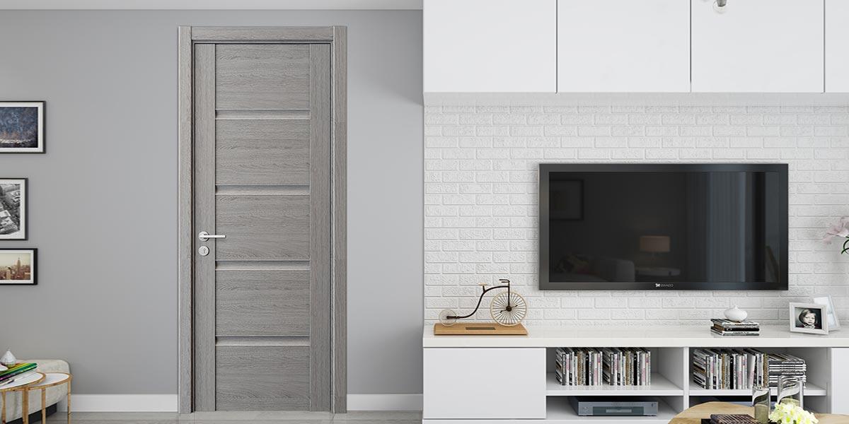 Fashion Series Grey Melamine Interior Door YDF005D