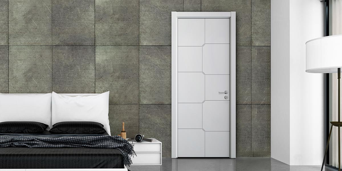 Fashion Series White Matte Lacquer Hinged Door YDG015D