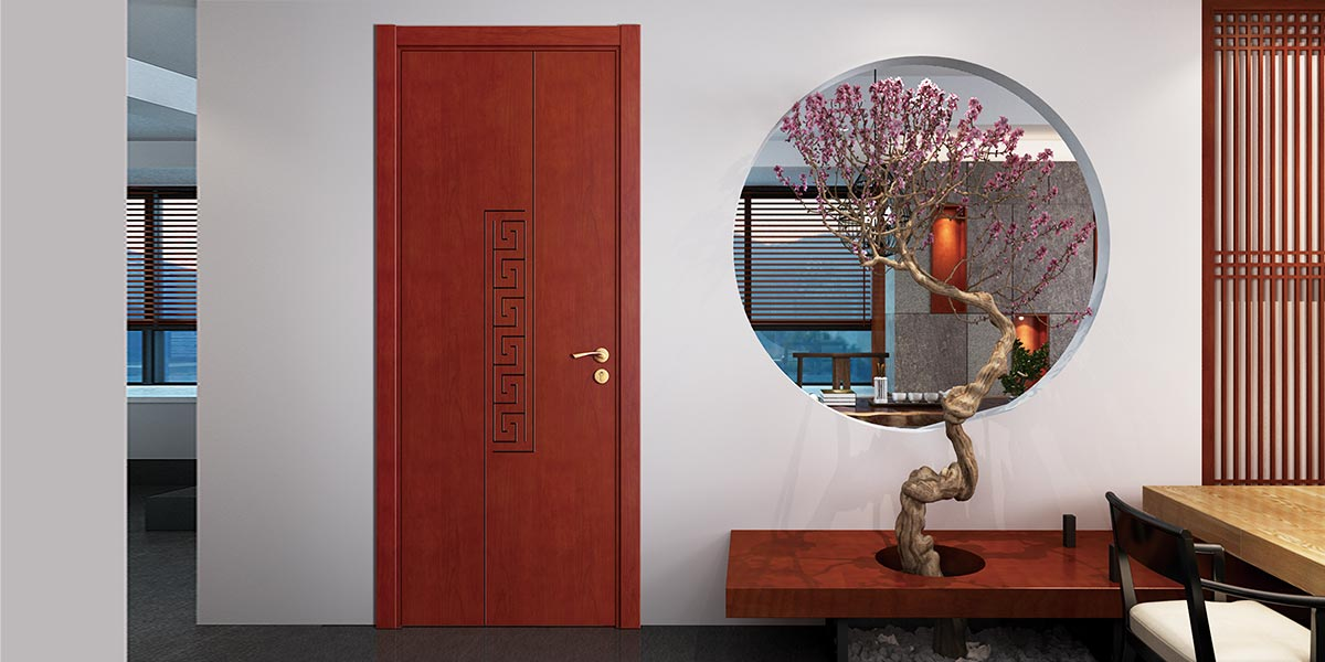 Modern Wood Veneer Flat Interior Door YDG026D